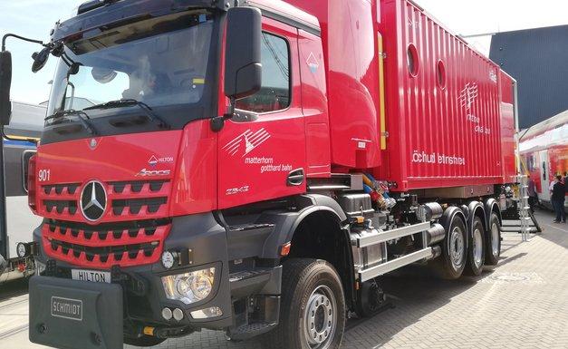 Neues Löschfahrzeug für die MGB Oberwallis/Schweiz